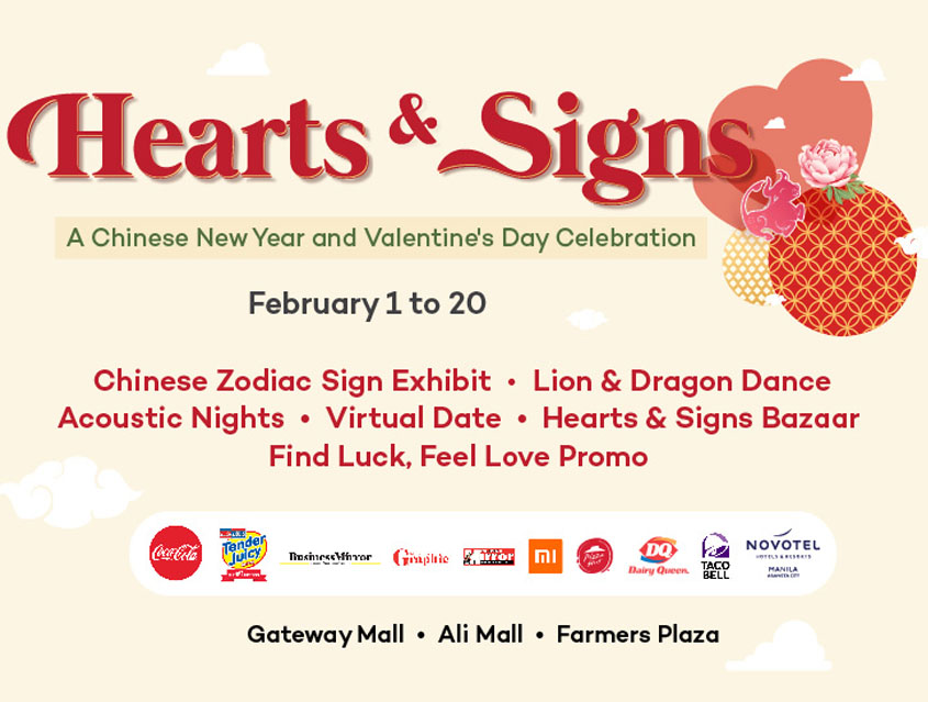 Find luck and feel the love at Araneta City this February!